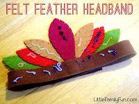 Felt feather headband-use in dramatic play area.