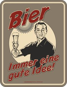 The hottest shirts for beer drinkers and brewers are n-Die geilsten Shirts für Bier Trinker und Bierbrauer gibt's nur bei uns von EBEN… The hottest shirts for beer drinkers and brewers are only available from EBENBLATT, have a look! Beer Pictures, Funny Pictures, Tom's Diner, Beer Commercials, Nostalgic Art, Vintage Cafe, German Beer, Beer Signs, Blunt Cards