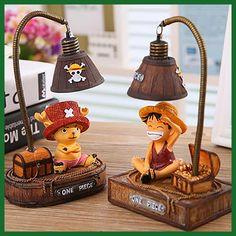 "Creative Night Light The Japanese Anime ""One Piece"" Monkey-D-Luffys/Tony Chopper Garage Kits Light Home Resin Ornaments Crafts"