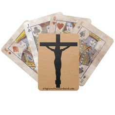 Jesus on the cross Distressed Edition Agrainofmustardseed.com Playing Cards.  Shop now 4 #JesusSeason add name or initials to any gift 4Free! #PlayingCards #JesusSeason #Cards #ChristianPlayingCards #ChristianProducts #Agrainofmustardseed #gifts #ChristmasGifts #Zazzle
