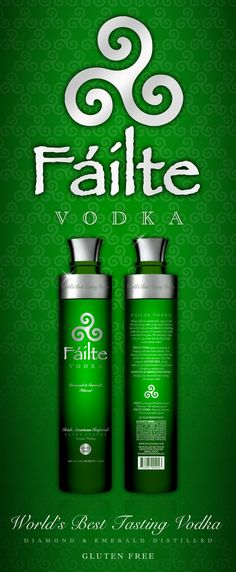 FÁILTE VODKA  - The World's Best Tasting Vodka. Best tasting vodka for the smoothest and best tasting vodka Martinis. FÁILTE VODKA  is an #ultra #luxury #potato #vodka that is DIAMOND & EMERALD Filtered making it not only the #best #vodka but also the #smoothest #vodka on the planet. FÁILTE VODKA is distilled from potatoes making it also a #GLUTEN #FREE #vodka. FÁILTE VODKA won the gold medal at The New York World Wine & Spirits Competition. Best Tasting Vodka, The Best Vodka, Gluten Free Vodka, Vodka Potato, Vodka Martini, Blue Drinks, Yahoo Answers, Irish American