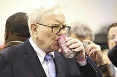 one of the richest men in the world just rocking a coke - warren buffett