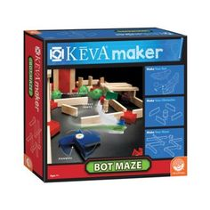 MindWare KEVA Maker Bot Maze - Calling all creative thinkers and curious minds - it's time to tinker. The KEVA Maker Bot Maze lets you experiment, innovate, and create with precision-engineered KEVA planks and a variety of doodads and gizmos. Cool Toys For Boys, Best Kids Toys, Best Gifts For Tweens, Engineering Tools, Tween Girl Gifts, Stem For Kids, Ride On Toys, Toys Online, Activity Games