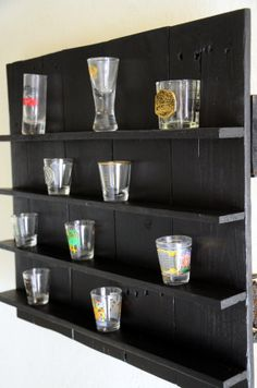 Shot Glass Shelf// You choose the color or by Intrepidillusions, $50.00