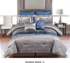 9 Piece Queen Mariana Embroidered Comforter Set