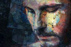 Jimmy - acrylic painting by David Agenjo