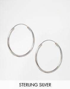 ASOS Sterling Silver 30mm Hoop Earrings