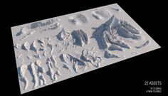 Download 22 Free Detailed Mountain Landscapes for MAXON Cinema 4D