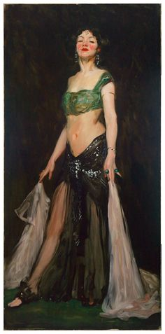Salome Dancer by Robert Henri; c. 1909 [from the Mead Art Museum at Amherst College] #art