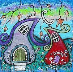 Art: Happy Homes II by Artist Juli Cady Ryan