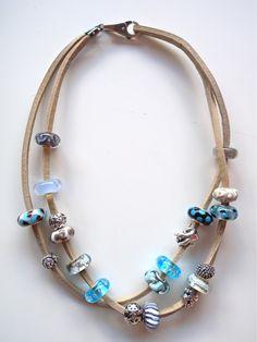 dva niza + kacenje Trollbead necklace 2-I adore these beachy colors! <3 #trollbeads #trollbeadsmsm