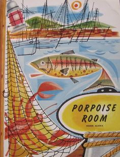 Menu cover, 1960s, Porpoise Room, Homer, Alaska