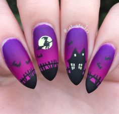 Not actual porn, just nails! 💅🏻💅🏼💅🏽💅🏾💅🏿None of these nails are mine unless stated. I just make gifs & gif tutorials, but all posts have the original nail artist. Holiday Nail Designs, Halloween Nail Designs, Simple Nail Designs, Holiday Nails, Nail Art Designs, Nails Design, Holloween Nails, Cute Halloween Nails, Halloween Acrylic Nails