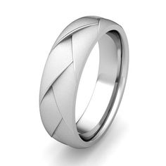 Customized Love Folding Comfort Fit Wedding Band Ring in Gold or Platinum