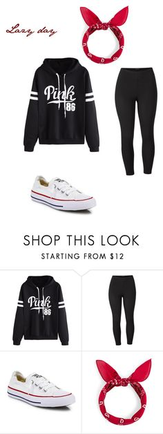 """School outfit #8 (For a lazy day)"" by thisisnotjs ❤ liked on Polyvore featuring WithChic, Venus, Converse and plus size clothing"