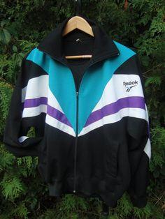 90s Reebok Sweatshirt Zip Up Jacket Vintage Reebok by FleecenStuff
