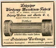 Original-Werbung/ Anzeige 1901 - LEIPZIGER WERKZEUG- MASCHINEN- FABRIK PITTLER  - ca. 100 x 80 mm
