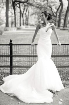 Trendy Mark Zunino a symmetrical mermaid bridal gown featured on Gowns For Days collection