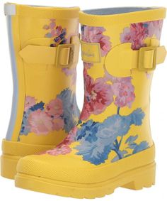 Joules Kids Printed Welly Rain Boot (Toddler/Little Kid/Big Kid) Girls Shoes Yellow Floral – Baby For look here Trendy Kids, Trendy Baby, Big Kids, Kids Girls, Joules Kids, Girls Shoes Online, Baby Girl Halloween Costumes, Kids Rain Boots, Bow Boots