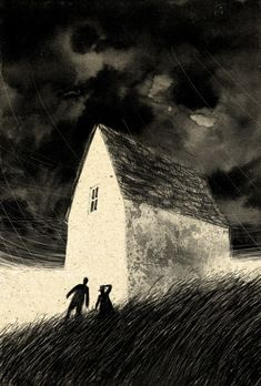 """""""The Tale of the Empty House"""" by Nicolò Carozzi, a finalist in the 2015 competition to illustrate the Folio Society's """"The Folio Book of Ghost Stories"""""""