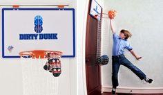 Le panier à linge sale Dirty Dunk. © The Dunk Collection