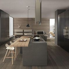 Design kitchens Blade are the most important collection of Modulnova; Modern Kitchen made to celebrate first twenty Years of the Company Modern Kitchen Cabinets, Modern Kitchen Design, Interior Design Kitchen, New Kitchen, Deco Design, Küchen Design, House Design, Cocinas Kitchen, Herd