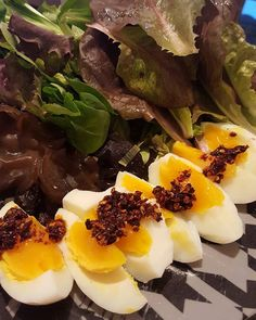 Spicy eggs with salad at my garden  #foodpics #foodstagram #food #foodstyling #foodporn #foodstylist #cooking #cookforlife #momfood #cook #cookingtime #healthyfood #healthychoices #healthy #life #myself #mystyle #me #instagood #instadaily #followme