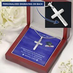Class of 2021 Graduation Gift for SON/Daughter, Senior 2021 graduation – Shiny Jewelry Charm Graduation Necklace, Graduation Gifts, Engraved Necklace, Personalized Necklace, Personalised Box, Charm Jewelry, Congratulations, College Grad Gifts