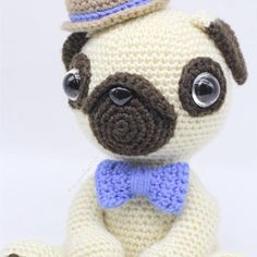 Meet Pugster 😊 He\'s a loving and good-natured little pug. His pattern is now available in my Etsy store. Have a lovely day! 💕 . . . . #crochet #crochetaddict #helloyellowyarn #crochetersofinstagram #amigurumi #amigurumipattern #amigurumidog #etsyseller #etsyau