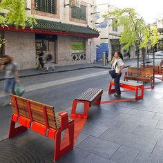 The upgrades to Little Hay Street, Factory Street and Kimber Lane are stage one in the transformation of Chinatown's Public Domain. The focus of the work is to uplift the public domain quality and strengthen the pedestrian connections, whilst improving lighting, furniture, and embracing the distinguishing character of each street or laneway by integrating site specific public artworks.