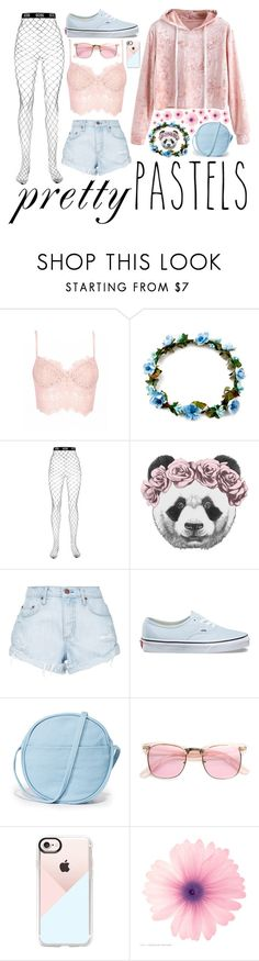 """Pretty Pastels"" by madelineeve18 ❤ liked on Polyvore featuring GCDS, Nobody Denim, Vans, BAGGU, ZeroUV and Casetify"