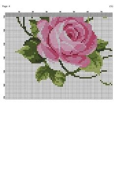 Cross Stitch Boarders, Cross Stitch Rose, Cross Stitch Flowers, Cross Stitch Embroidery, Cross Stitch Patterns, Antique Roses, Bargello, Janome, Rose Bouquet
