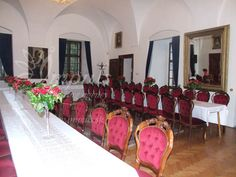 Bojnice castle saloons - for small group weddings up to 40 people, welcome drink or afterparty. Bojnice castle, Slovakia, Europe