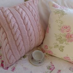 Pretty cable-knit pillow