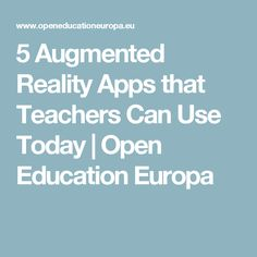 5 Augmented Reality Apps that Teachers Can Use Today Augmented Reality Apps, Educational Technology, Canning, Home Canning, Instructional Technology, Conservation
