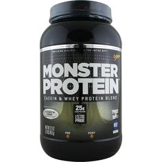 CytoSport Monster Protein Cookies and Cream 2 lbs*   Regular Price: $39.99, Sale Price: $31.99   OvernightSupplements.com   #onSale #supplements #specials #CytoSport #ProteinPowder    Benefits of Working Out with MONSTER PROTEIN One serving of Monster Protein provides 25 grams of high quality protein from a unique blend designed to provide essential nutrients to aid exercise recovery and muscle growth Slower Digesting Micellar Casein From milk protein isolate calcium sodium c