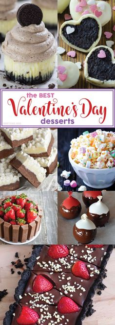 The Best Valentine's Day Desserts - Valentine's dessert ideas for everyone! Homemade fudge, strawberry cake, truffles, cookies, cupcakes, and more!