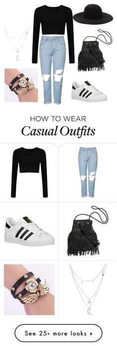 """""""Casual"""" by dariia-georgiana on Polyvore featuring Topshop, adidas Originals, Forever 21 and Charlotte Russe"""