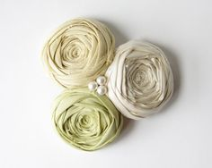 Rosete Couture Woodland Bride Hair Clip Green and by Brydferth, $44.00