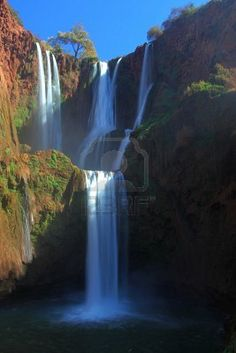 ouzoud waterfalls in the province of azilal, morocco.