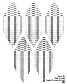 Full Page Graph Paper Seed Bead Crafts, Beaded Crafts, Seed Bead Jewelry, Seed Bead Earrings, Native Beading Patterns, Beaded Earrings Patterns, Seed Bead Patterns, Bijoux Diy, Loom Beading