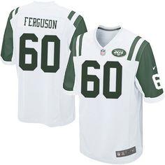 NFL New York Jets D'Brickashaw Ferguson Youth Limited White #60 Jerseys