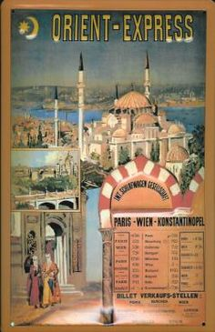 Orient Express #vintage #travel #poster