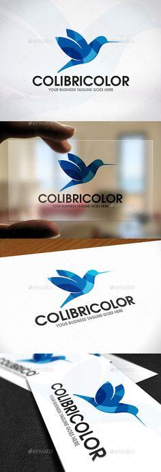 Colibri Bird Logo Design - Animals #Logo #Templates Download here: https://graphicriver.net/item/colibri-bird-logo-design/20187906?ref=alena994