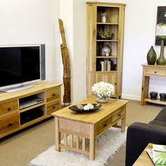 Hereford Rustic Solid Oak Coffee Table  (Storage Drawers, Shelf) -  - Coffee Table - Ametis - Space & Shape - 9