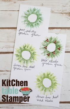 Kitchen Table Stamper » Blog Archive » Painted Harvest Christmas Wreath Cookie Tote Tutorial Christmas Wreath Cookies, Christmas Wreaths, Diy Christmas Cards, Holiday Cards, Sunflower Cards, Tote Tutorial, Tutorial Sewing, Stamping Up Cards, Winter Cards