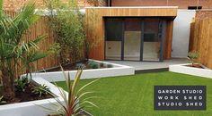 Dreaming of a work shed / garden studio Modern Shed, Modern Patio, Outdoor Office, Garden Of Earthly Delights, A Frame House, Garden Studio, Amazing Buildings, Garden Buildings, Backyard Makeover