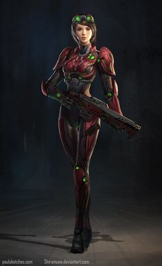 Red Tech Sci Fi by Zeronis.deviantart.com