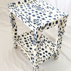 Karl Springer Telephone Table Covered In by TimelessAccessories