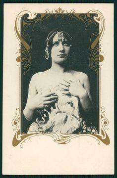 Art Nouveau Woman Original Old c1900s Photogravure Postcard A11 | eBay